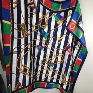 Accessories - VINTAGE | Square Nautical Themed/Print Scarf